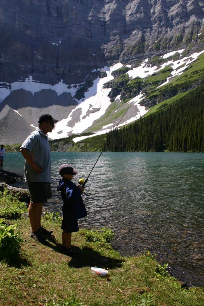 Rawson Lake, summer fishing. Three Mountain Family Hikes, Take A Hike With Your Children