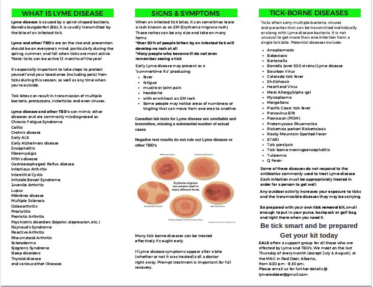 CALS Lyme Disease Information Brochure
