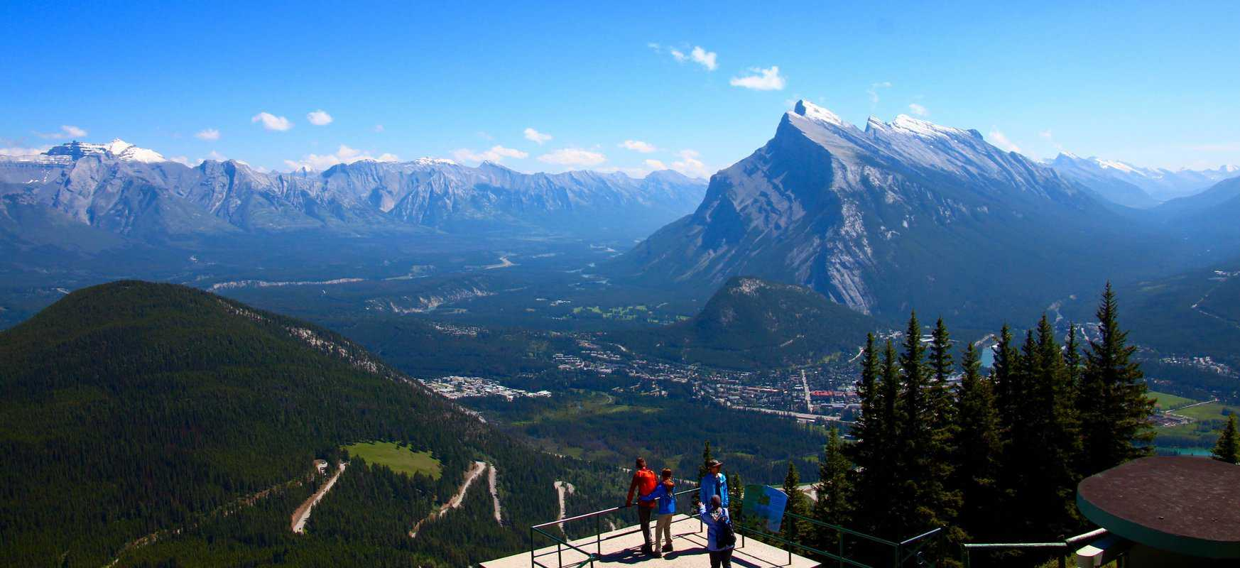 A view of Banff and the Bow Valley, Mt. Norquay
