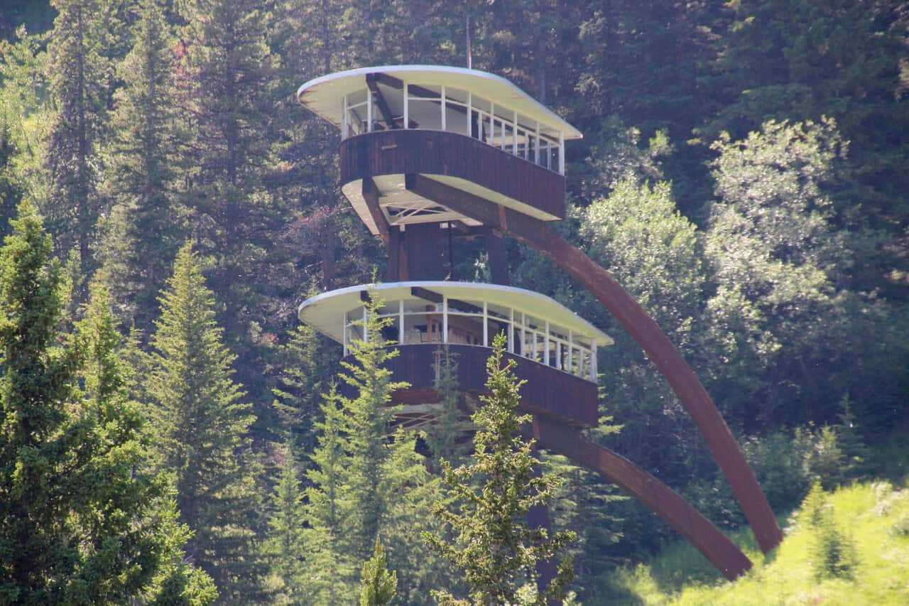 the old ski jump tower. Mt. Norquay