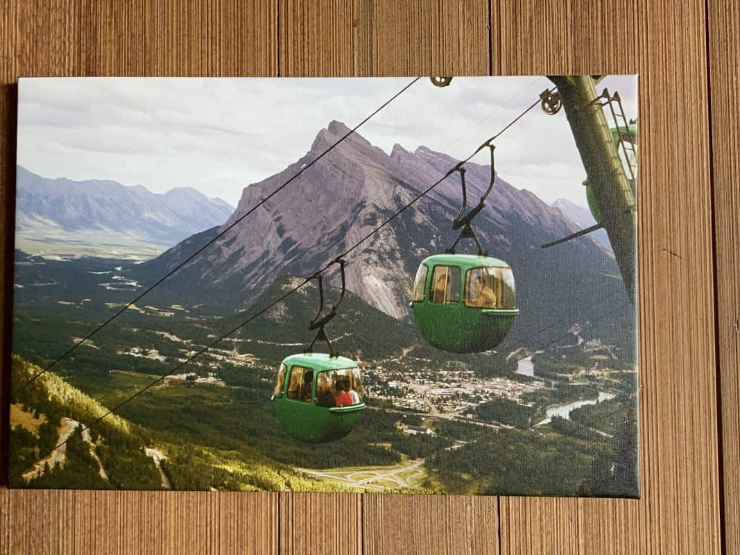 picture of Mt. Norquay gondolas, circa 1970's