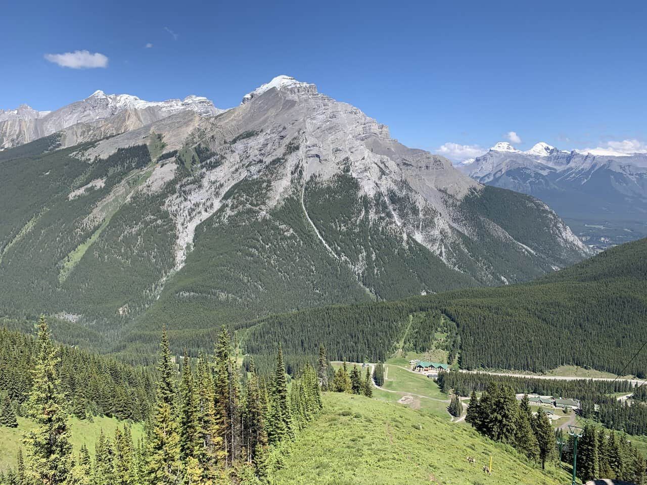 ski runs at Mt. Norquay