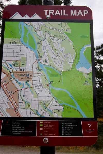 picture of the canmore trail map