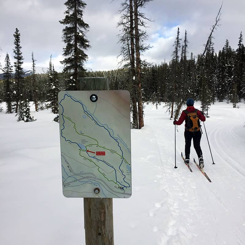 cross country skiing lessons map of the trail