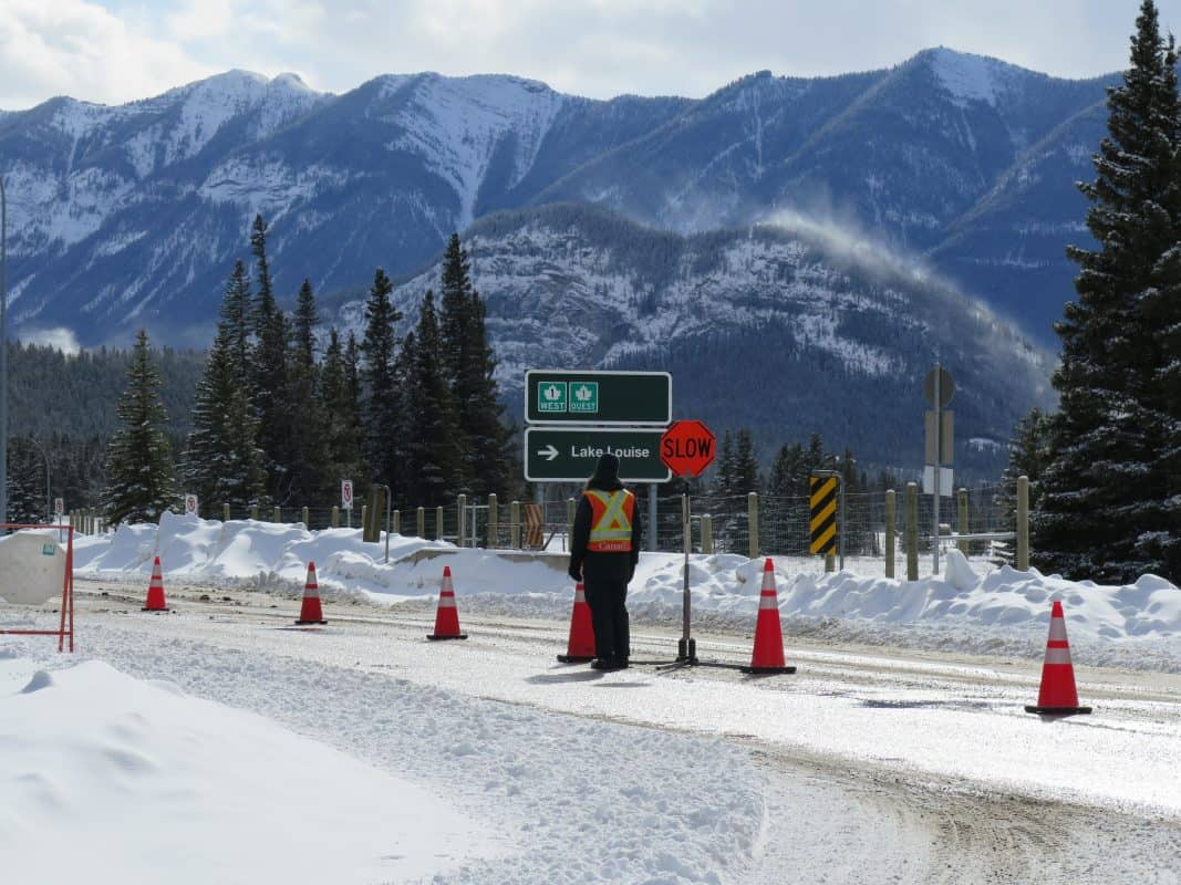 Parks Canada pass checkpoint, Banff